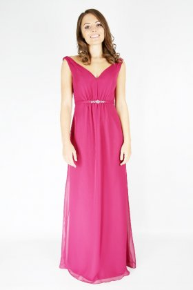 EB7487 bridesmaid dress fuchsia