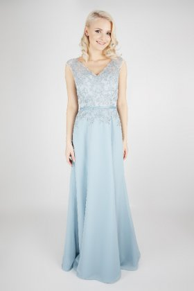 EB7493 bridesmaid dress pale blue front