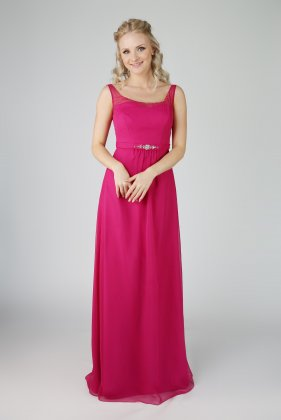 EB7503 bridesmaid dress fuschia front
