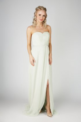 EB7509 bridesmaid dress slit front in thistle