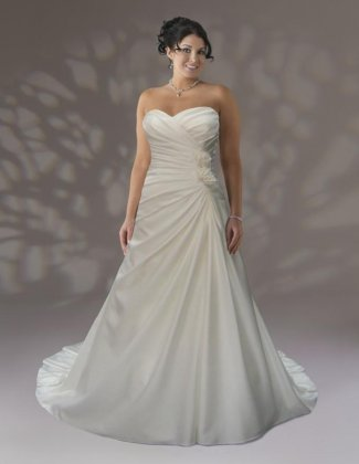 Wedding dress by Venus VW8665 Dallas Front