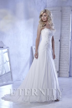 Elsa chiffon wedding dress front