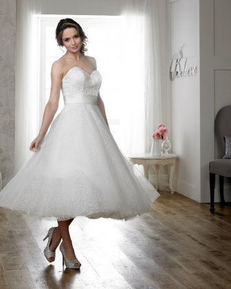 Frances tea length wedding dress