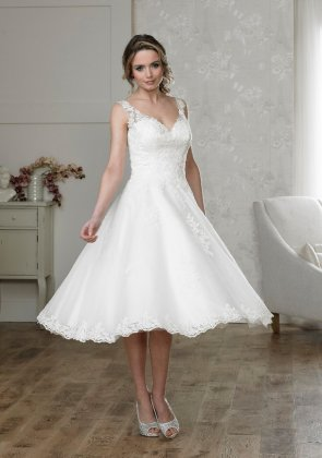 Maddie tea length wedding dress